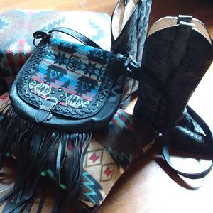 Call it Spring  Aztec Pattern  Fringe  Bag